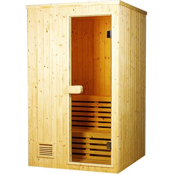 Thiết kế phòng xông hơi gỗ thông Việt nam 900x1100x2000mm