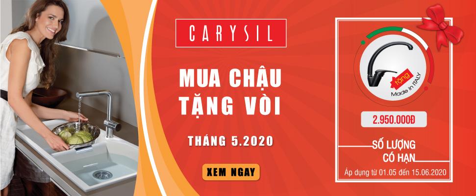 Chương trình ưu đãi lớn khi mua chậu Carysil
