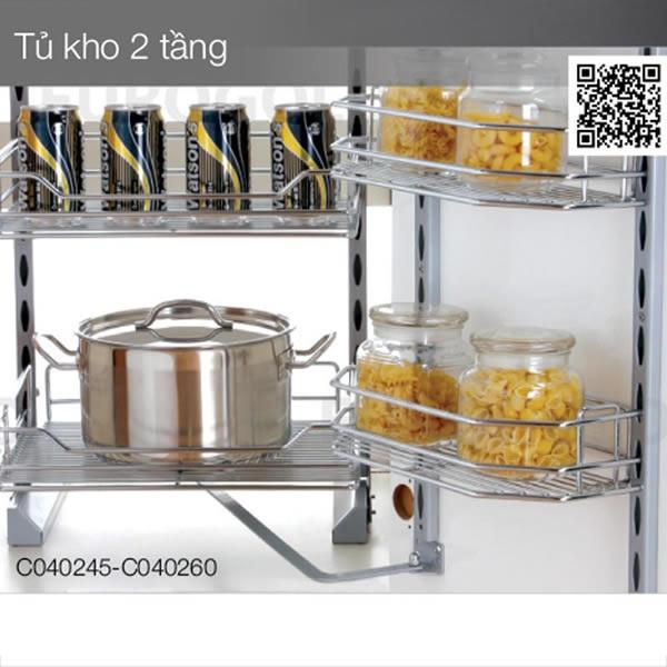 Hệ giá kho 2 tầng inox 304 Eurogold C040245