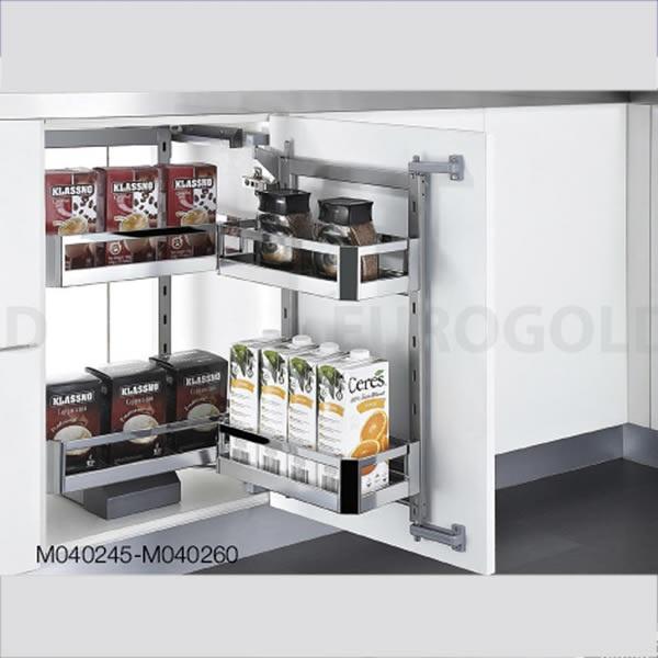 Hệ giá kho 2 tầng inox hộp Eurogold C040245