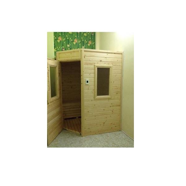 Thiết kế phòng xông hơi gỗ thông Thủy Điện 1000x1000x2000mm