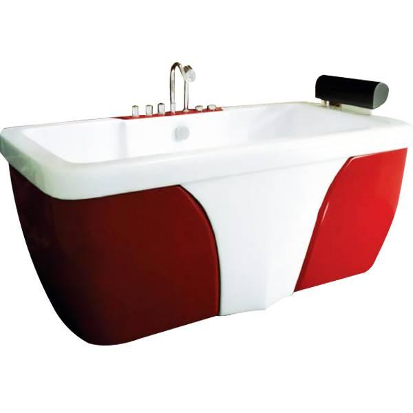 Bồn tắm massage Govern màu đỏ nổi bật