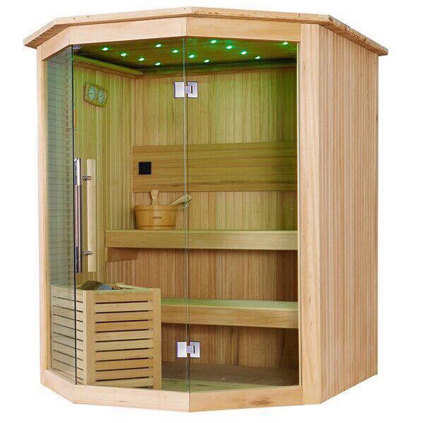 Phòng xông hơi tự đóng gỗ thông Phần Lan nhập khẩu